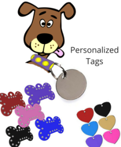 tags, dog tags, pet tags and engraving, cloakroom tags