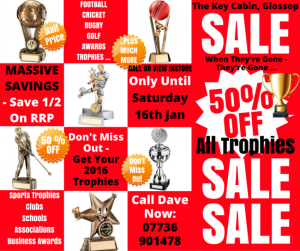 trophy sale at the key cabin in glossop
